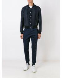 Adidas Originals - Blue 'sst Cuffed' Track Pants for Men - Lyst