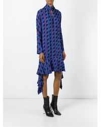 Marni - Blue Geometric Pattern Dress - Lyst