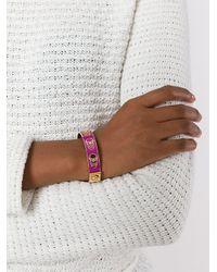 Alexander McQueen - Pink Skull Stamped Bracelet - Lyst