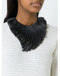 Monies | Black Wave Effect Necklace | Lyst