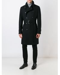 Hevò - Black - Double Breasted Coat - Men - Polyamide/viscose/wool - 52 for Men - Lyst