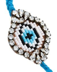 Shourouk - Blue 'eye' Beaded Bracelet - Lyst