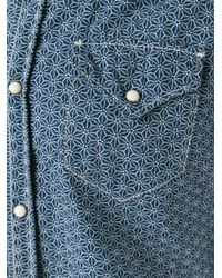DSquared² - Blue All-over Chain Print Shirt for Men - Lyst