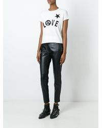 Love Moschino   White Sequin Embellished T-shirt   Lyst