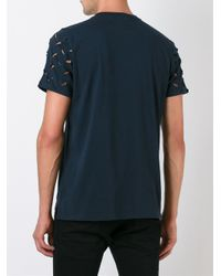 Vivienne Westwood Anglomania - Blue Cut Out Sleeve T-shirt for Men - Lyst