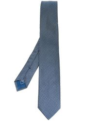 Brioni | Blue Micro-neat Woven Silk Tie for Men | Lyst