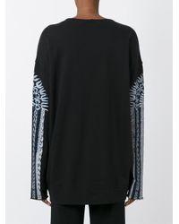 Raquel Allegra - Black Drop Shoulder Sweatshirt - Lyst