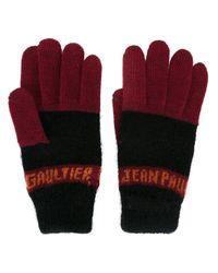 Jean Paul Gaultier - Red Logo Gloves - Lyst