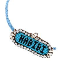 Shourouk - Blue Habibi Bracelet - Lyst