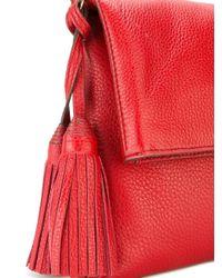 Tory Burch - Gray Fold-over Crossbody Bag - Lyst