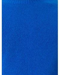 YMC - Blue Crew Neck Pullover for Men - Lyst