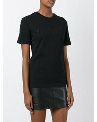 McQ - Black Embroidered Logo T-shirt - Lyst