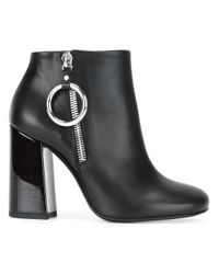 McQ | Black Varnished Heel Ankle Boots | Lyst