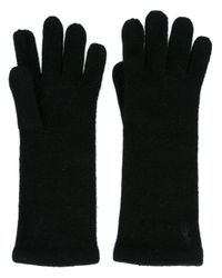 Polo Ralph Lauren | Black Embroidered Logo Gloves | Lyst