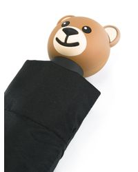 Moschino - Black Toy Bear Handle Umbrella - Lyst