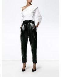 Rosie Assoulin - Black Off-shoulder Blouse - Lyst