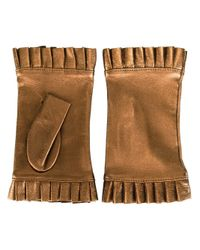 Gala - Metallic Fingerless Frilly Gloves - Lyst