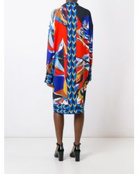 Emilio Pucci - Multicolor - Abstract Print Dress - Women - Spandex/elastane/viscose - 42 - Lyst
