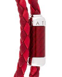 Tateossian - Red Woven Bracelet for Men - Lyst