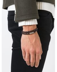 Tateossian - Brown Woven Bracelet for Men - Lyst