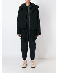 Juun.J   Black Double Breasted Coat for Men   Lyst