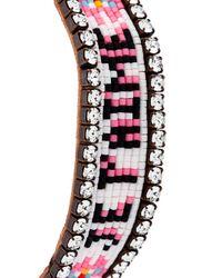Shourouk - Pink 'je T'aime' Tassel Bracelet - Lyst