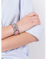 Shourouk   Pink 'je T'aime' Tassel Bracelet   Lyst