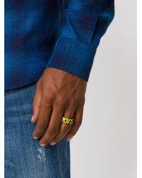 Maison Margiela - Yellow Sport Ring for Men - Lyst