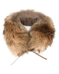 Woolrich | Natural Racoon Fur Ring Scarf | Lyst
