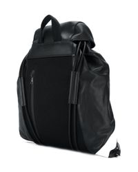 Neil Barrett - Black 'retro Modernist' Drawstring Backpack for Men - Lyst