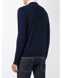 Eleventy | Blue Classic Cardigan for Men | Lyst
