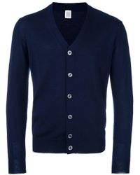 Eleventy - Blue Classic Cardigan for Men - Lyst