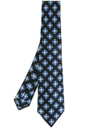 Kiton - Black Printed Tie for Men - Lyst