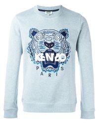 KENZO - Blue 'tiger' Sweatshirt for Men - Lyst