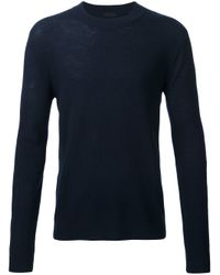 ATM - Blue Ribbed Knit Jumper for Men - Lyst
