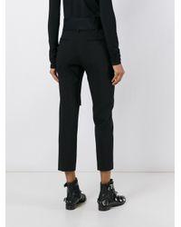 Faith Connexion - Black - Cropped Tailored Trousers - Women - Cotton/polyamide/spandex/elastane/virgin Wool - 38 - Lyst