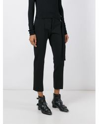 Faith Connexion - Black - Cropped Tailored Trousers - Women - Cotton/polyamide/spandex/elastane/virgin Wool - 38 - Lyst