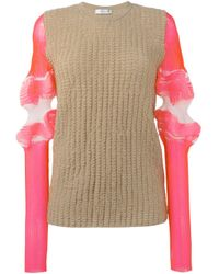 J.W.Anderson   Blue - Sleeve Detail Jumper - Women - Cotton/polyamide/polyester/spandex/elastane - S   Lyst