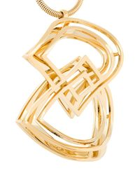 DSquared² - Metallic 'dd' Necklace - Lyst