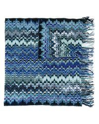 Missoni | Blue Zig-zag Knit Scarf for Men | Lyst