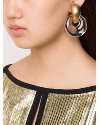 Monies - Metallic Linked Discs Clip-on Earrings - Lyst