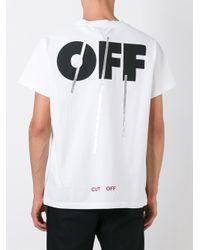 Off-White c/o Virgil Abloh - White 'silver Off' T-shirt for Men - Lyst