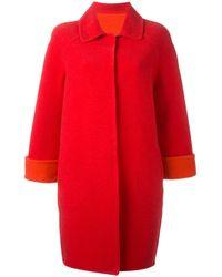 Gianluca Capannolo | Red - Classic Fastening Shift Coat - Women - Nylon/polyamide/virgin Wool - 42 | Lyst