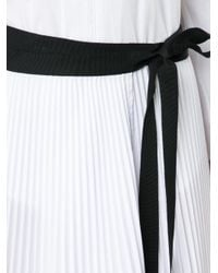 TOME | White 'pleated Wrap' Skirt | Lyst