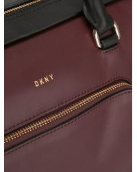 DKNY - Red Bicolour Tote - Lyst