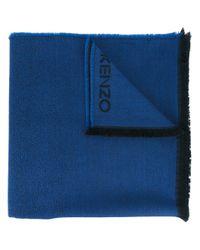 KENZO | Blue 'tie And Dye' Scarf | Lyst