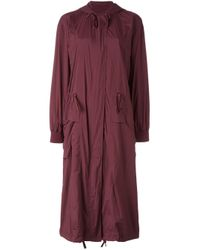 DKNY | Red Draped Trench Coat | Lyst