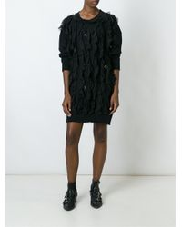 Faith Connexion - Black Jersey Ruffled Dress - Lyst