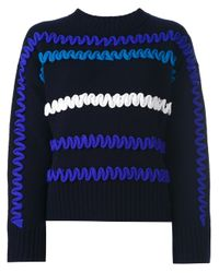 KENZO | Blue Textured Jumper | Lyst