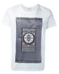 Les Benjamins - White Carpet Print T-shirt for Men - Lyst